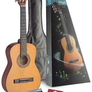 Stagg C510 Pack de Guitare classique Taille 1/2 Marron